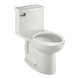 "American Standard - American Standard 2403.328.020 Compact Cadet 3 Flowise Elongated Toilet, White - American Standard 2403.328.020 Compact Cadet 3 Flowise Right Height Elongated One-Piece Toilet, Less Seat, White. This single-piece toilet features a Right Height elongated bowl, a 12"" Rough-in, an EverClean surface that inhibits the growth of bacteria, mold, and mildew, an oversized 3"" flush valve, a fully-glazed 2-1/8"" trapway, and 2 color-matched bolt caps."