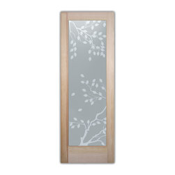 , as bathroom door glass insert only or pre-installed in a door frame ...