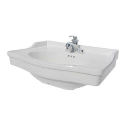 Renovators Supply - Sink Parts White Vitreous Homestead 4'' center set Basin ONLY - The Homestead Classic Basin ONLY: Captures the lines & style reminiscent of early American bathroom fixtures! For pedestal 17819, 4 in., center set faucet & pedestal, not included.