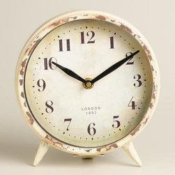 Small Ivory Charlie Clock -