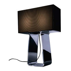 Pablo - Tube Top Table Lamp - Fit for MOMA or the Mad Men set, this 1960's-inspired gem will light up any space. Designed by Peter Stathis, the groovy acrylic base and modular shade might have you rummaging in your closet for some bell-bottoms and a tube top!