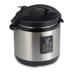 Fagor - Fagor 6-Quart 3-in-1 Electric Multicooker - Fagor's 6-quart Electric Multi-Cooker is a pressure cooker, slow cooker and rice cooker in one. It features a brown and a warm function for true one-pot-cooking with a removable cooking pot that is dishwasher safe and nonstick coated for easy cleanup.