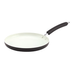 Paula Deen - Paula Deen Savannah Collection Aluminum Nonstick 10.5-inch Round Griddle - The Paula Deen nonstick griddle is ideal for weekend pancakes, midday burgers and more. The aluminum construction of the round griddle heats smoothly and quickly, helping to reduce hot spots that can burn foods.