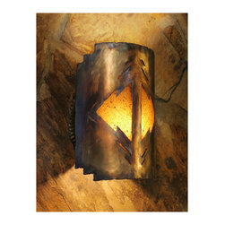 "FAR REACHES ] SC_1212IA_OL_BPGRU wall light sconce,  light sculpture, southwest - A marvelous blend of light,  "" far reaches  "" [ SC_1212IA_OL_BPGRU   [ 9 w / 12 h / 7e ]  comes from a sconce concept that is one of the brightest. It is a light that seems to mirror  the sun's golden hour, skimming its light across the surrounding surfaces. It speaks of southwest and radiates a soulful warmth."