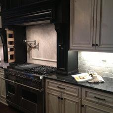 Cabinets and wood hood