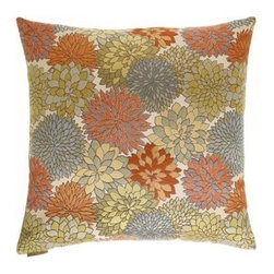 D.V. KAP Home - Mumsford 24 x 24 Decorative Pillow - -24x24 zippered removable cover  -Comes with Feather/Down insert  -Spot or dry clean D.V. KAP Home - 2069