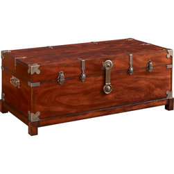 Fine Furniture Design - Fine Furniture Design Trunk Cocktail Table - Home Voyage. Set and store with this stunning Trunk Cocktail Table from Fine Furniture Design's Cachet Collection. Open the warm brown wood chest to find two lift-out trays that provide handy concealed storage while drinks sit atop.Two lift-out traysMahagony finishSelect walnuts