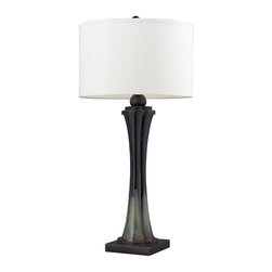 Dimond Lighting - D2274-LED Langholm Table Lamp, Landscape / Painted Color - Transitional Table Lamp in Landscape / Painted Color from the Langholm Collection by Dimond Lighting.