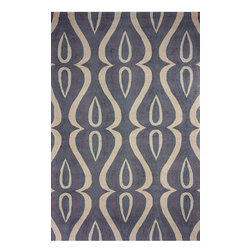 """nuLOOM - Contemporary 7' 6"""" x 9' 6"""" Slate Hand Hooked Area Rug UZB53 - Made from the finest materials in the world and with the uttermost care, our rugs are a great addition to your home."""