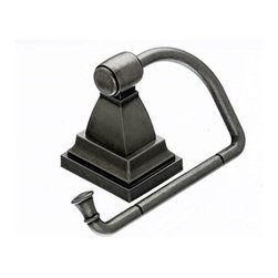 """Top Knobs - Stratton Bath Tissue Hook - Antique Pewter - Length - 2"""", Projection - 3 3/8"""",Ring / Hook Diameter - 4 7/8"""" w x 2 7/8"""" h, Base Diameter - 2"""" w (x) 2 1/2""""  h"""