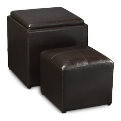 Convenience Concepts - Convenience Concepts Ottoman X-010341 - Enjoy a snack and drinks with The Deisgns4Comfort Park Avenue Single Ottoman! Featuring a reversable top cushion that can be easily transformed into a serving tray! When the tray is removed from the seating, it features a storage space that is perfect to keep a cluttler free enviroment in any room. It also offer an small ottoman that is good for extra seating! Sit Back, Relax, and Enjoy!