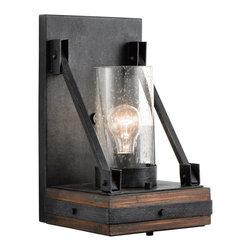 Kichler Lighting - Kichler Lighting 43436AUB Colerne 1 Light Wall Sconces in Auburn Stain - Wall Sconce 1Lt