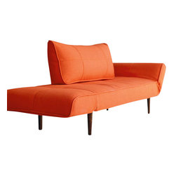 """Innovation USA - """"Innovation USA"""" Zeal Deluxe Orange Daybed - Create a beautiful bedroom set that you will love for years to come with the""""Innovation USA"""" Zeal Deluxe Orange Daybed. It is a perfect and affordable solution for your home. The daybed also creates an extra couch for a den or office."""