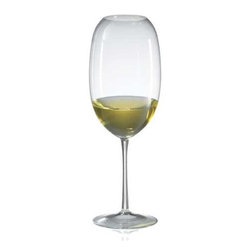 Ravenscroft - Barrique White Set Of Four Wine Glasses - Specifically designed for barrel aged, oaked, world class white wines,the Ravenscroft Crystal Amplifier Barrique White glasses are unmatchedin their ability to amplify the bouquet of any wine. All Amplifierglasses focus and intensify bouquet. Hand wash recommended. Dimensions: Height 10 inches Capacity: 24 oz.