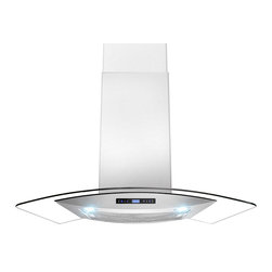 "AKDY - AKDY AK-Z688-CS14 Euro Stainless Steel Wall Mount Range Hood, 36"" - AKDY's 688iCS14 wall range hoods are designed in Spain with quality construction and stunning style. This 36"" wide range hood with a 760 CFM blower. Constructed entirely from stainless steel, it features an adjustable chimney and aluminum cassette filters with a wide filtration area. The 3-speed fan is operated with an intuitive digital controls. Two 2W LED light bulbs are pre-installed, offering an elegant illumination of your cooktop or range. The 688CS14 is designed for ducted use, but may be converted to a ductless (recirculating) range hood when you order an optional charcoal filter set."