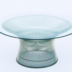 "Knoll - Platner 36"" Coffee Table - In the midst of the modern design movement in the 1960s, Warren Platner turned a simple concept -- transforming steel wire into a unique and supremely modern sculptural furniture collection -- into a creative masterpiece: the Platner Table series. This classic table will surely make quite a statement in your living room, den or office. THE DESIGN 