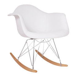 Mid Century Styled Eiffel Base and Ash Wood Sleighs - Mid Century Styled Eiffel Base and Ash Wood Sleighs