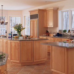 Light Maple Cabinets in Kitchen - Kitchen Craft Cabinetry -
