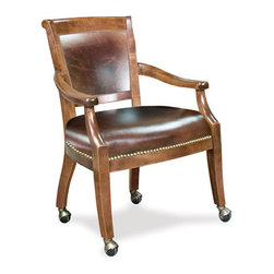 California House - eastgate chair w/ casters (leather) - Manufactured in the USA, we are proud to offer our customers this premium game room furniture from a third generation, family-owned company.