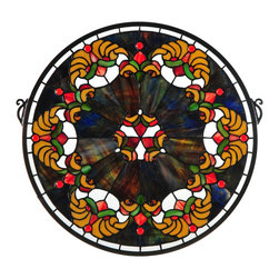 Meyda Tiffany - Meyda Tiffany Middleton Tiffany Medallion Stained Glass  Window X-601721 - Meyda Tiffany Middleton Tiffany Medallion Stained Glass  Window X-601721