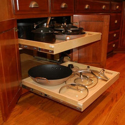 Slide Out Shelves for Your Kitchen - Custom pull out kitchen shelves by ShelfGenie of Kentucky will provide additional usable storage through better visibility and easier access.