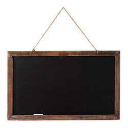 Kitchen Chalkboard - You can give lessons in style with this rustic, schoolhouse-style chalkboard hanging in your kitchen. From grocery lists to the weekly menu, you'll soon find it indispensable.