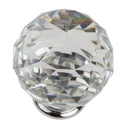 GlideRite - GlideRite 1.57-inch Clear K9 Crystal Cabinet Knobs (Pack of 10) - Update your kitchen cabinets or bathroom vanities with these beautiful K9 Crystal Cabinet Knobs. These knobs are the real deal for anyone wanting to add class and sophistication to their kitchen or bathroom cabinets.