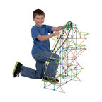 Knex - K'NEX Thrill Rides Typhoon Frenzy Roller Coaster Building Set Multicolor - 51438 - Shop for Building Sets from Hayneedle.com! Bring a wave of fun from the ocean to your living room with the K'NEX Thrill Rides Typhoon Frenzy Roller Coaster Building Set. With over 640 K'NEX parts & pieces including rods connectors and track you'll be able to build a truly death defying roller coaster. Add a motorized chain lift to send the silver coaster car twisting and turning through over 19 feet of swirling non-stop action and you'll have the best roller coaster around. Recommended for ages nine and up. About K'NEXK'NEX builds worlds kids love! In 1990 K'NEX founder Joel Glickman came up with the idea for a rod and connector building system now known as K'NEX. In 1992 his dreams became reality and a company was born. K'NEX added wheels pulleys and gears so kids could build vehicles roller coasters and more. Easy-to-follow color-coded instructions make it easy for every builder to bring their model to life. The K'NEX family of brands has expanded to include K'NEX building sets K'NEX Thrill Rides K'NEX Education: America's STEM building solution Lincoln Logs Tinkertoy NASCAR Angry Birds Mario Kart Wii Mario Kart 7 Super Mario PacMan and more.