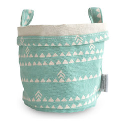 MAIKA - Recycled Canvas Bucket, Triangle, Blue, Small - AS SEEN ON THE TODAY SHOW