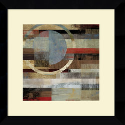 Amanti Art - Tom Reeves 'Industrial II' Framed Art Print 20 x 20-inch - Unique interlocking shapes and soft tones come together in Industrial II, an appealing abstract art piece by Tom Reeves.