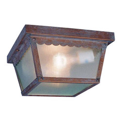 Volume Lighting - Volume Lighting V7232 2 Light Flush Mount Outdoor Ceiling Fixture - Two Light Flush Mount Outdoor Ceiling FixtureAccent your home d�cor this stylish 2 light flush mount outdoor ceiling fixture featuring delightful clear textured glass.Features: