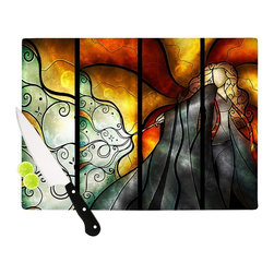 "Kess InHouse - Mandie Manzano ""Expecto Patronum"" Harry Potter Cutting Board (11.5"" x 15.75"") - These sturdy tempered glass cutting boards will make everything you chop look like a Dutch painting. Perfect the art of cooking with your KESS InHouse unique art cutting board. Go for patterns or painted, either way this non-skid, dishwasher safe cutting board is perfect for preparing any artistic dinner or serving. Cut, chop, serve or frame, all of these unique cutting boards are gorgeous."