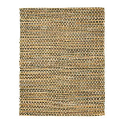 Anji Mountain - Ilana Jute and Chenille Cotton Rug - 10' x 14' - Jute brings a magnificent, chunky texture to any space. These rugs are expertly handloom-woven by skilled weavers who employ a variety of traditional techniques to create these simply beautiful styles. Jute fibers exhibit naturally anti-static, insulating and moisture regulating properties. It is predominantly farmed by approximately four million small farmers in India and Bangladesh and supports hundreds of thousands of workers in jute manufacturing (from raw material to yarn and finished products).