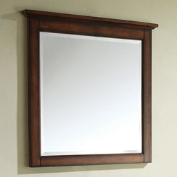Tropica Vanity Mirror - Made to match the Tropica vanity cabinet, this mirror has an attractive wood frame with a smooth texture. Hang it with the matching vanity for a cohesive look.