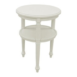 EuroLux Home - New Side Table White/Cream Painted Hardwood - Product Details