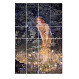 Picture-Tiles, LLC - 4 Tile Mural By Edward Robert Huges - * MURAL SIZE: 48x32 inch tile mural using (24) 8x8 ceramic tiles-satin finish.
