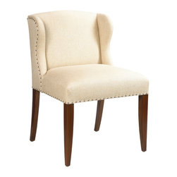 French Heritage - St. Croix Desk Chair, Antique Cherry Finish - Front row seating for just about any important affairs at home or in your office. This tidy, tailored chair also performs admirably as extra seating in your dressing room, living room or guest room. No drama here, just one smart, sophisticated player on the set.