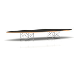 Herman Miller - Eames Elliptical Table - Sort of like a skateboard on steroids, this signature Eames coffee table sculpture is modern art for your living area. Clean, uncluttered and dramatic, it's 89 inches of perfection. Perfectly suited for your cutting edge aesthetic.