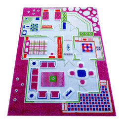 Luca and Company - 3D Playcarpets, Playhouse Pink - IVI 3D Play Carpets are designed to stimulate and encourage children's play in a creative, entertaining and interactive way with room for friends to join in! No batteries required.