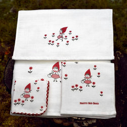Baby - red riding hood gauze towel set