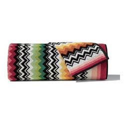 Missoni Home - Missoni Home | Niles Red Bath and Hand Towel 5 Piece Set - Design by Rosita Missoni.