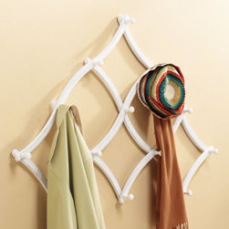 Expandable Coat Rack - This 13-hook rack, which is expandable, is the perfect option for hanging coats or scarfs.