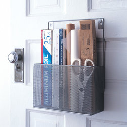 Silver Pantry Caddies - Set of 2 - It's hard to find the perfect place to store your pantry goods. With this two piece set of Silver Pantry Caddies, keep your pantry free of clutter. Store away kitchen necessities in a way that is both accessible and stylish.