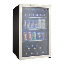 Danby - 4.3 Cu.Ft. Free Standing Beverage Center - -4.3 cu. ft. (123 litre) capacity free standing beverage center