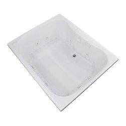 Arista - Veronesse 48 x 60 Air & Whirlpool Drop-In Bathtub w/ Center Drain - Left Pump - DESCRIPTION