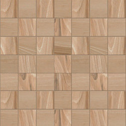 """Apricot Tile - Tigerwood Cherry 2"""" x 2"""" Mosaic - Sold by the Piece"""