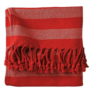 Poppy Awning Stripe Throw - By simply throwing these divinely soft throws over your couch, you add the necessary ingredients for a preppy and classic space.
