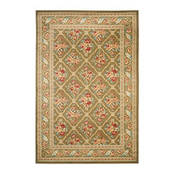 """Safavieh - Transitional Lyndhurst 3'3""""x5'3"""" Rectangle Green - Green Area Rug - The Lyndhurst area rug Collection offers an affordable assortment of Transitional stylings. Lyndhurst features a blend of natural Green - Green color. Machine Made of Polypropylene the Lyndhurst Collection is an intriguing compliment to any decor."""