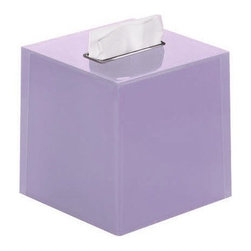 Gedy - Thermoplastic Resin Square Tissue Box Cover in Lilac Finish - Add this designer-quality, contemporary kleenex box holder to your already contemporary bathroom. Made in high quality thermoplastic resin and available in lilac. This free standing tissue box cover is made in Italy by Gedy and is from the Gedy Rainbow collection. Tissue box cover for a decorative bathroom. Designer-Quality kleenex box holder. High quality thermoplastic resin, finished with lilac. Made by Gedy in Italy.