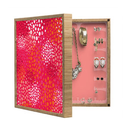 DENY Designs - Khristian A Howell Brady Dots 2 BlingBox Petite - Handcrafted from 100% sustainable, eco-friendly flat grain Amber Bamboo, DENY Designs BlingBox Petite measures approximately 15 x 15 x 3 and has an exterior matte cover showcasing the artwork of your choice, with a coordinating matte color on the interior. Additionally, the BlingBox Petite includes interior built-in clear, acrylic hooks that hold over 120 pieces of jewelry! Doubling as both art and an organized hanging jewelry box, It's bound to be the most functional (and most talked about) piece of wall art in your home! Custom made in the USA for every order.